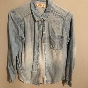 Hollister Long Sleeve Denim Shirt